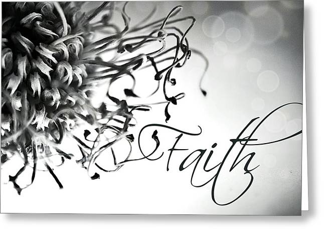 Greeting Card featuring the photograph Faith by Bobby Villapando