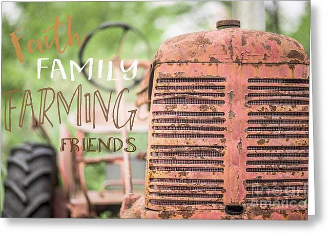 Faith Family Farming Friends Greeting Card