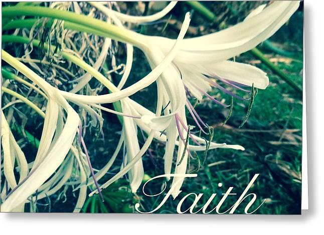 Faith- Flowers Greeting Card by Alohi Fujimoto