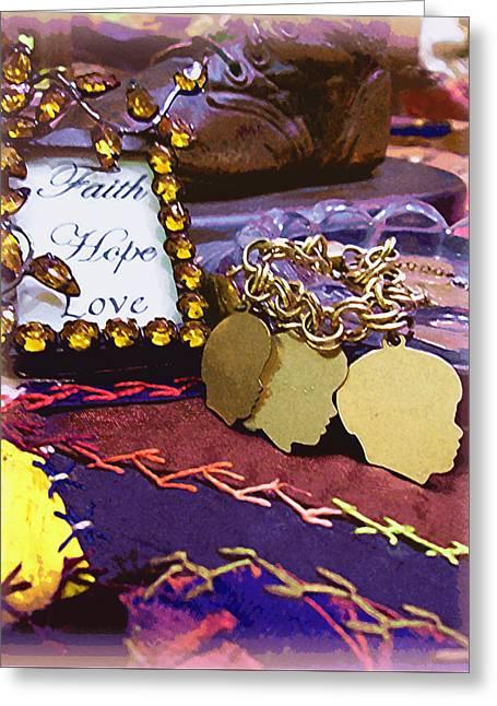 Faith Hope Love 4 Greeting Card
