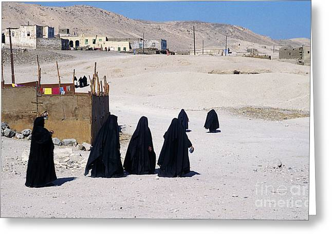 Greeting Card featuring the photograph Faith Past And Present - Mourners by Urft Valley Art