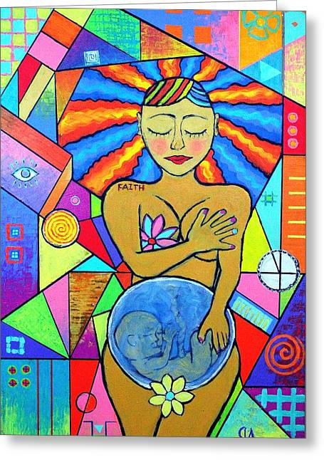Faith, She Carries The World On Her Hips Greeting Card
