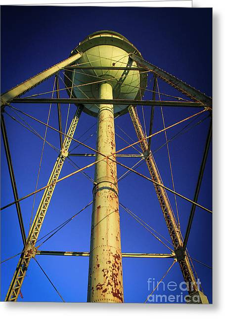 Greeting Card featuring the photograph Faithful Mary Leila Cotton Mill Water Tower Art by Reid Callaway