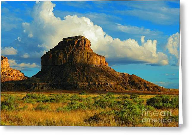 Fajada Butte At Days End Greeting Card by Feva Fotos