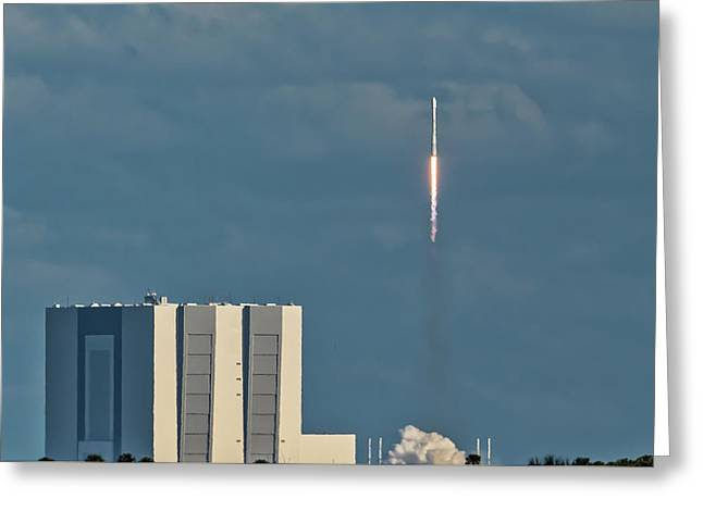Falcon 9 Launch Greeting Card