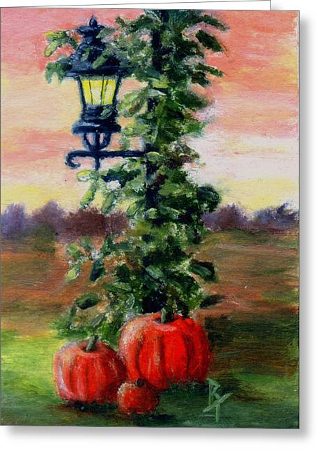 Fall Aceo Greeting Card by Brenda Thour