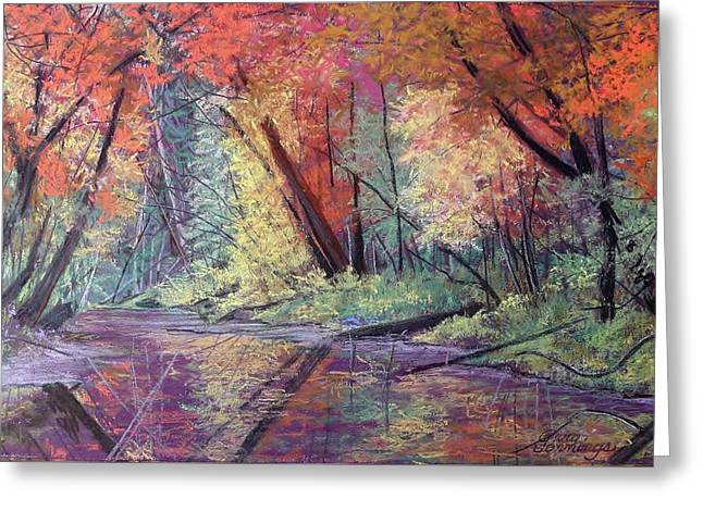 Fall Along The River Greeting Card