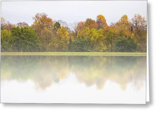 Fall And Fog Greeting Card