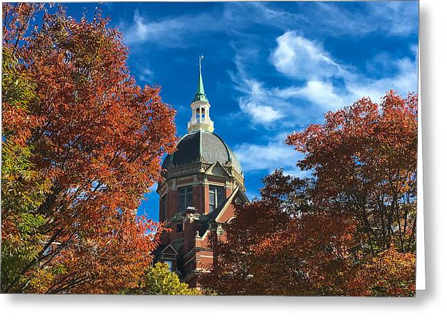 Fall And The Dome Greeting Card
