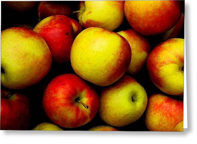 Fall Apples Greeting Card by Dennis Curry