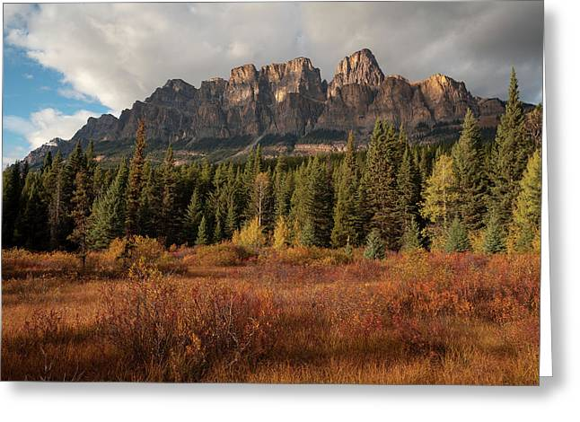 Fall At Castle Mountain Greeting Card
