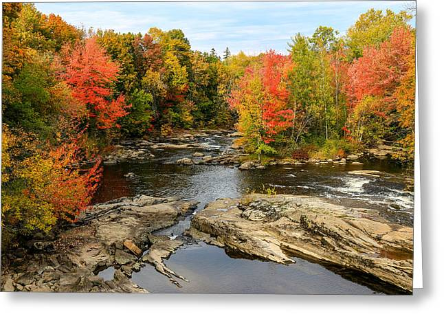 Fall At Little Androscoggin Greeting Card by Laurie Breton