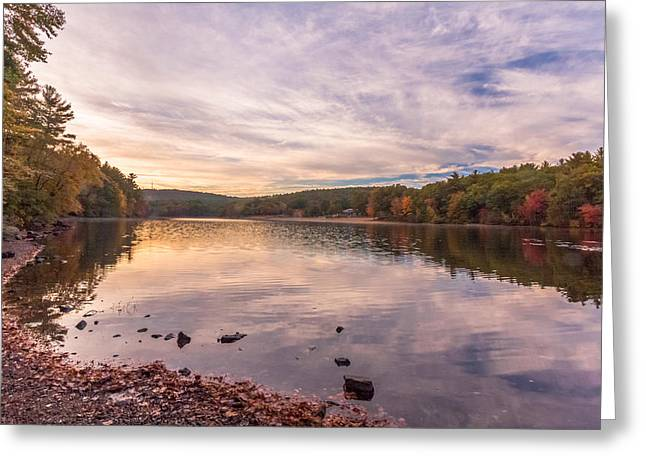 Fall At The Pond Greeting Card by Brian MacLean