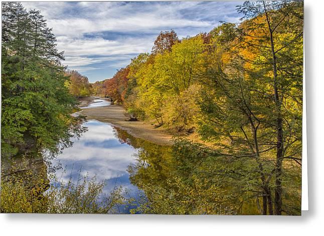 Fall At Turkey Run State Park Greeting Card