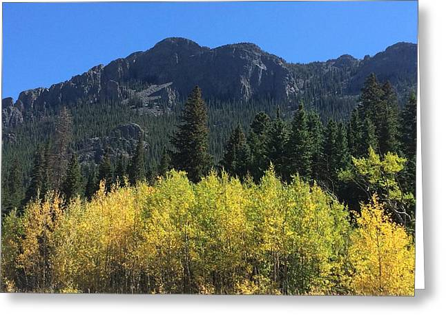Fall At Twin Sisters Greeting Card