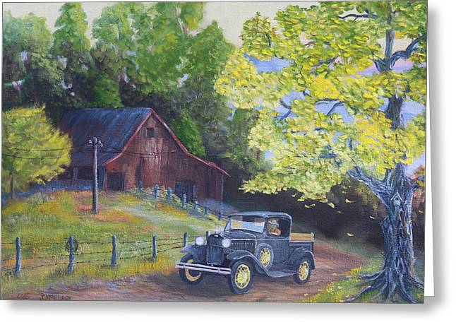 Fall Barn  Greeting Card by Jerry McElroy