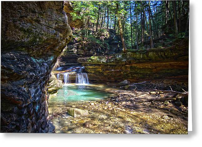 Fall Below Old Mans Cave Greeting Card