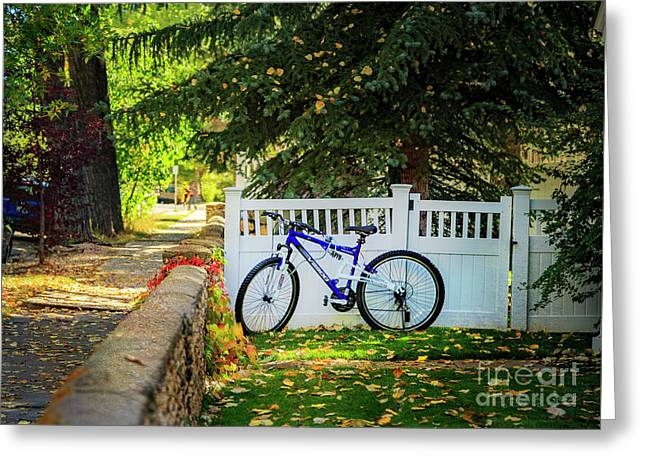 Greeting Card featuring the photograph Fall Bicycle Of Laramie by Craig J Satterlee