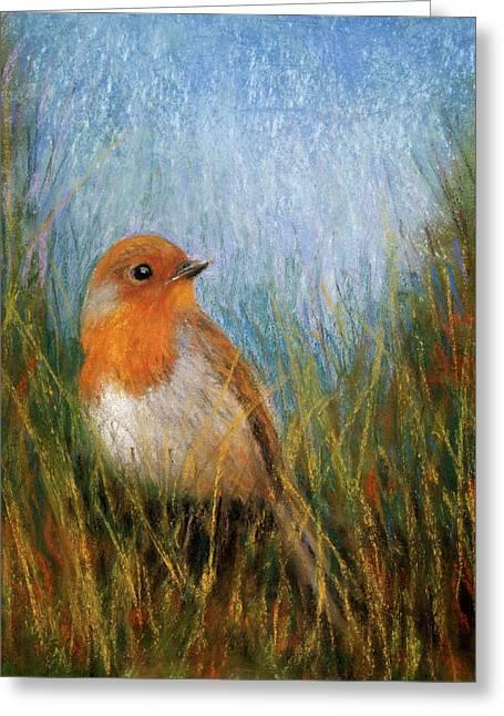 Fall Bird Greeting Card by Susan Jenkins