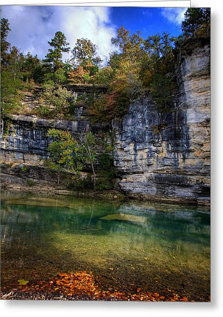 Fall Bluff At Ozark Campground Greeting Card