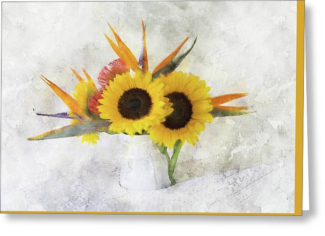 Greeting Card featuring the digital art Fall Bouquet by Sue Collura