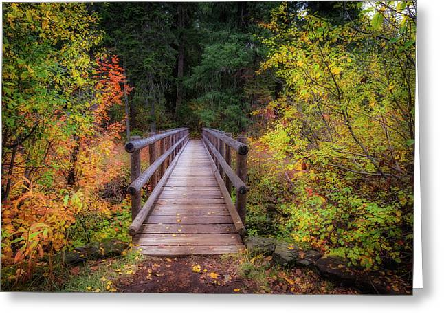 Greeting Card featuring the photograph Fall Bridge by Cat Connor