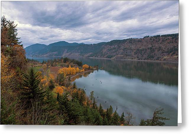 Fall Color At Ruthton Point In Hood River Oregon Greeting Card