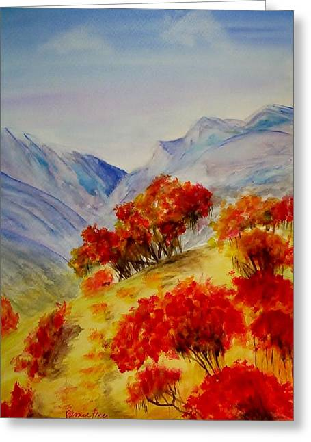 Greeting Card featuring the painting Fall Color by Jamie Frier