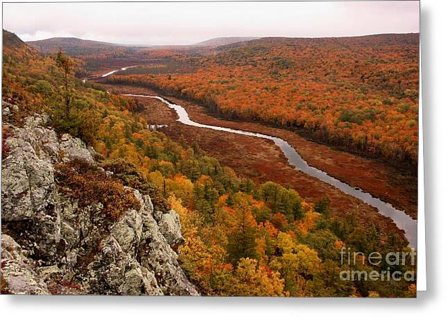 Fall Colors - Lake Of The Clouds Greeting Card