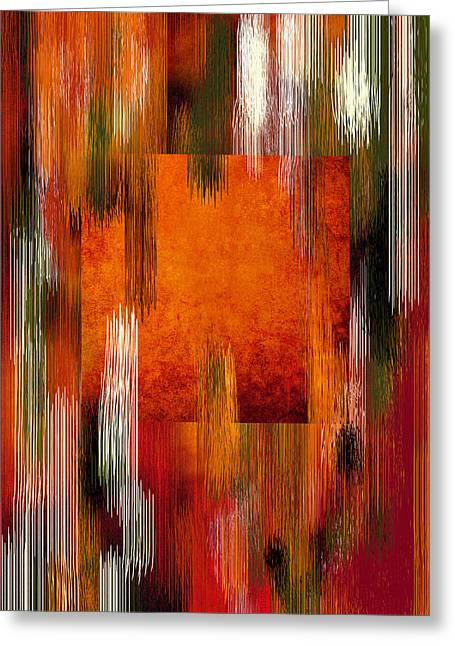 Fall Colors Abstract Greeting Card by Art Spectrum