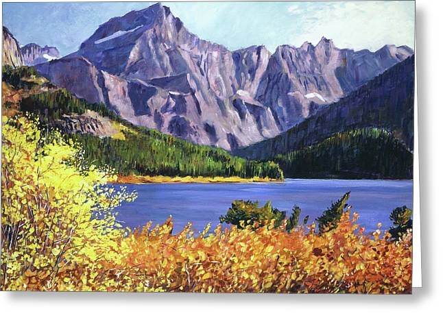 Fall Colors Greeting Card by David Lloyd Glover