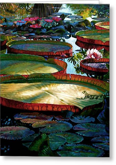 Fall Colors In The Morning Sun Greeting Card by John Lautermilch
