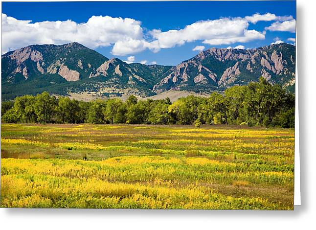 Fall Colors Of Boulder Colorado Greeting Card
