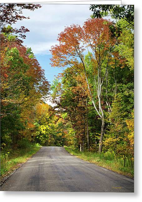 Fall Colors On Country Road Greeting Card