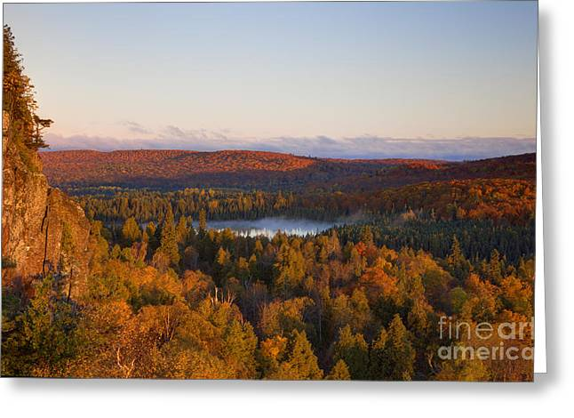 Fall Colors Orberg Mountain North Shore Minnesota Greeting Card by Wayne Moran