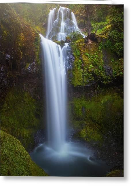 Fall Creek Falls Greeting Card by Darren White