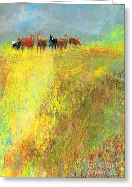 Fall Day On The Mesa Greeting Card by Frances Marino