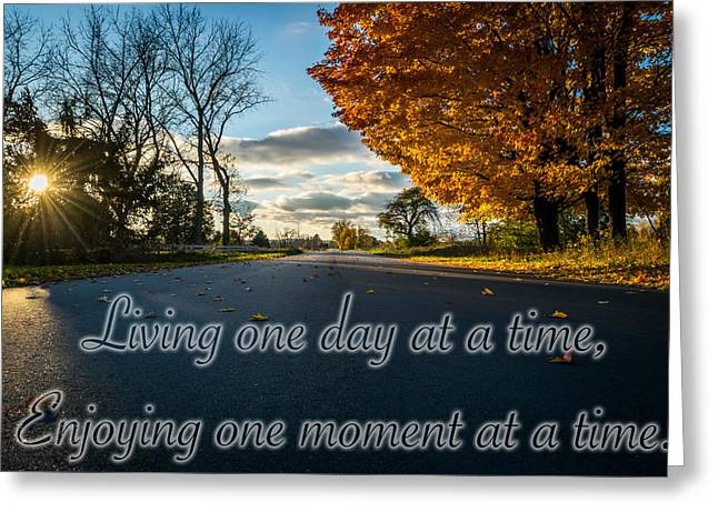 Fall Day With Saying Greeting Card