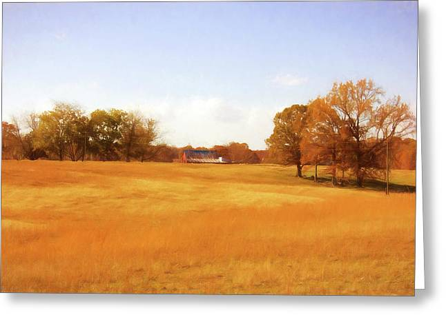 Fall Field - Rural Landscape Greeting Card by Barry Jones