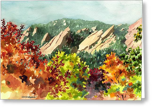 Fall Flatirons Greeting Card