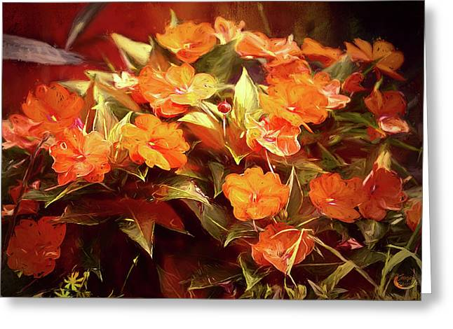 Fall Florals Greeting Card by Theresa Campbell