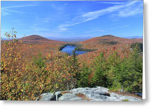 Fall Foliage At Owl's Head Groton State Forest Greeting Card by John Burk