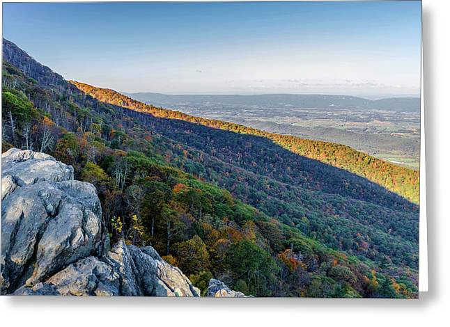 Greeting Card featuring the photograph Fall Foliage In The Blue Ridge Mountains by Lori Coleman