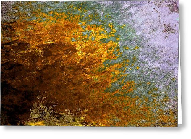 Greeting Card featuring the digital art Fall Foliage by John Krakora