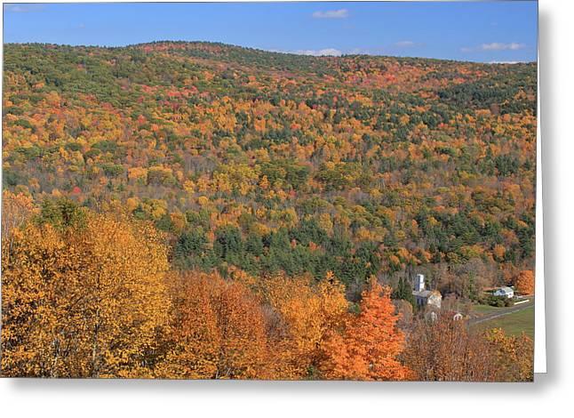 Fall Foliage On The Appalachian Trail Tyringham Cobble Greeting Card by John Burk