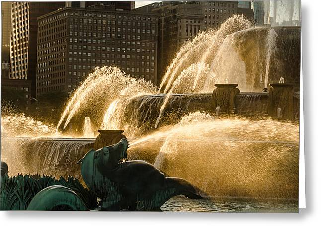 Fall Fountain Greeting Card