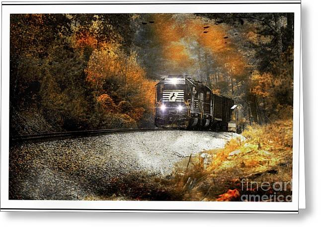 Fall Freight Greeting Card