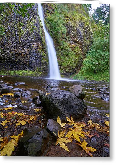 Fall Gorge Greeting Card by Jonathan Davison