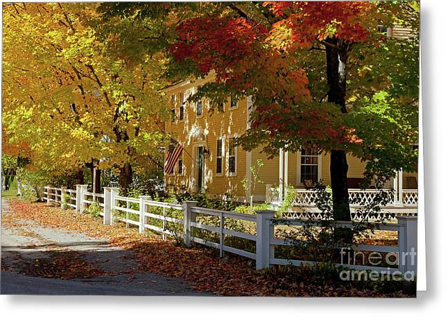 Fall, Hancock Nh Greeting Card