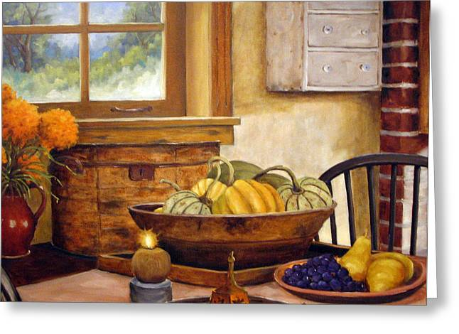 Fall Harvest Greeting Card by Richard T Pranke